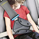Seat Belt Adjuster and Pillow with Clip for Kids Travel,Neck Support Headrest Seatbelt Pillow Cover & Seatbelt Adjuster…