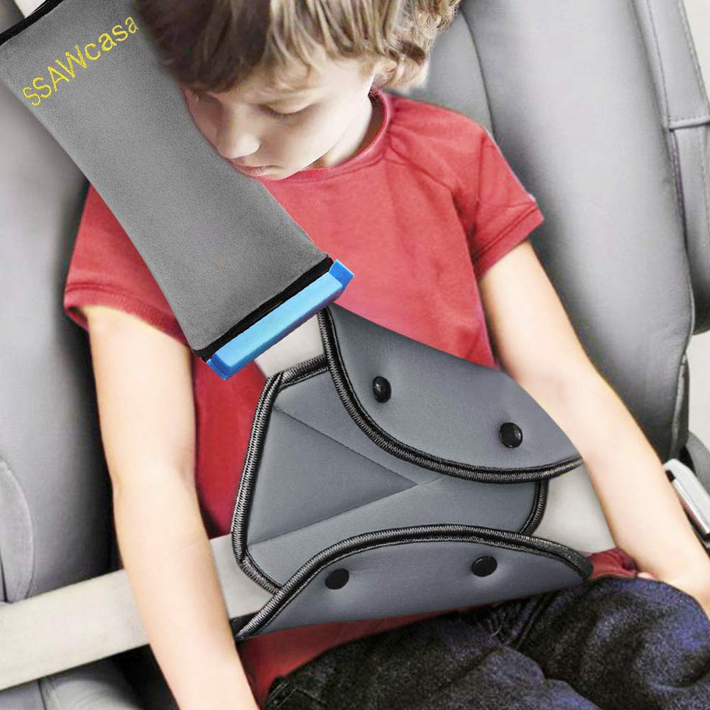Tener Un Buen Dormir En El Coche Beb/é Ni/ños Ajustable Correa De Seguridad Almohada Hombro Proteccion Cinturones De Seguridad De Coches Reposacabezas