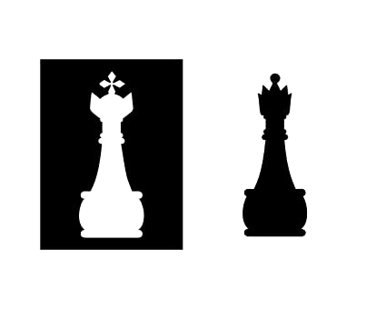 Flaminko Chess Piece Art King And Queen Board Game Decor Chess