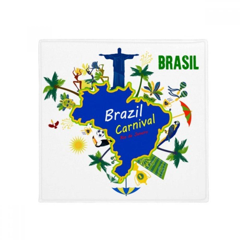 DIYthinker Mount Corcovado Brazil Maps Brazil Carnival Anti-Slip Floor Pet Mat Square Home Kitchen Door 80Cm Gift