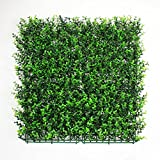 Artificial Boxwood Hedges Panels, Greenery Ivy Privacy Fence Screening, Home Garden Outdoor Wall Decoration, 12pcs 20''x20''