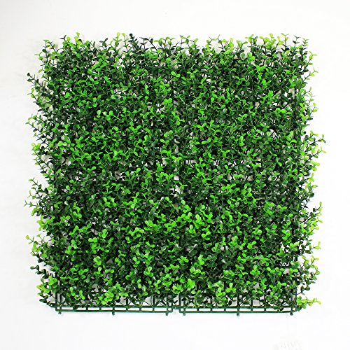 Artificial Boxwood Hedges Panels, Greenery Ivy Privacy Fence Screening, Home Garden Outdoor Wall Decoration, 12pcs 20