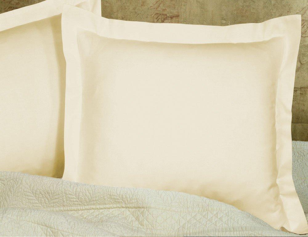KP Linen Pillow Case 2 Qty - 100% Cotton 400 Thread Count Standard Size Light Blue Solid Color