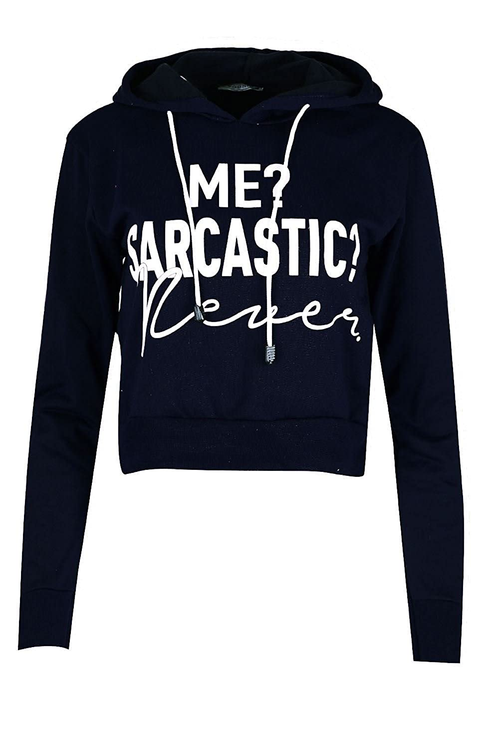 Amazon.com: Oops Outlet Women's ME SARCASTIC Slogan Hooded Ladies ...