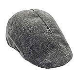 Limsea Men Summer Visor Hat Sunhat Mesh Running Sport Casual Breathable Beret Flat Cap Grey