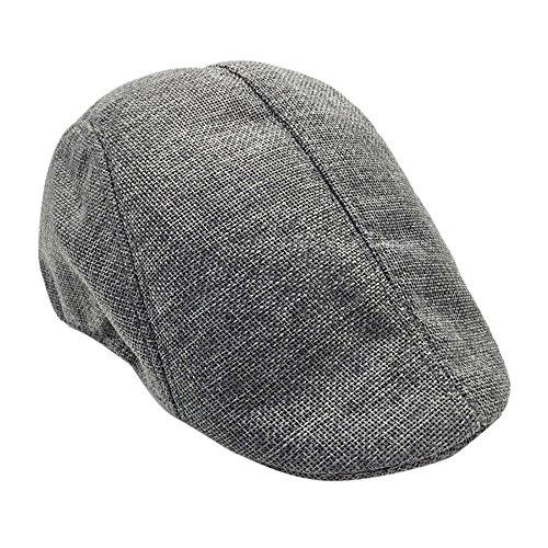 TANGSen Unisex Men Summer Visor Hat Sunhat Fashion Mesh Running Sport Casual Breathable Beret Flat Cap Grey