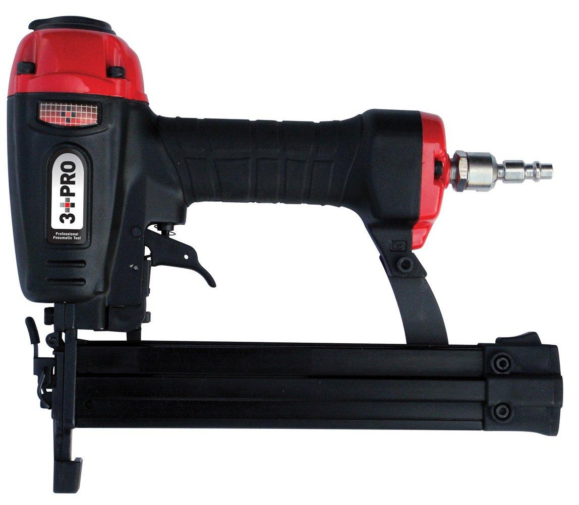 3 PRO F32P 18-Gauge Brad Nailer, 3/8 - 1 1/4-Inch Long, Black/Red