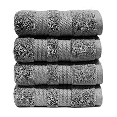 100% Cotton Luxury Hand Towel, 16  x 30  - Grey