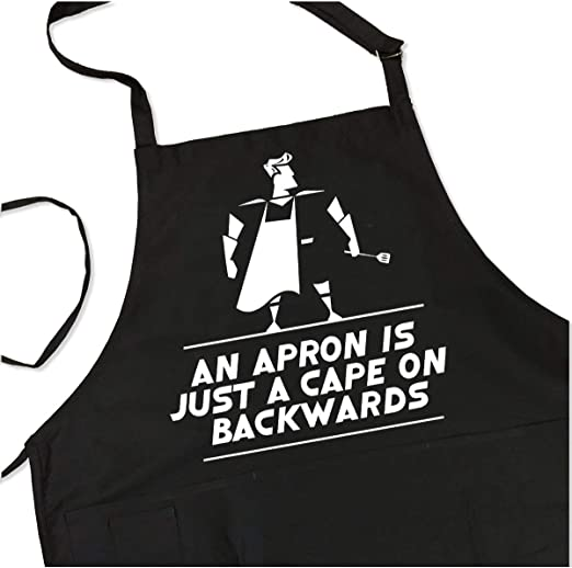 Amazon.com: BBQ Grill Apron - Apron is Just a Cape on Backwards ...