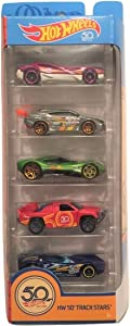 Hot Wheels 2018 50th Anniversary HW 50th Track Stars 1:64 Scale 5-Pack