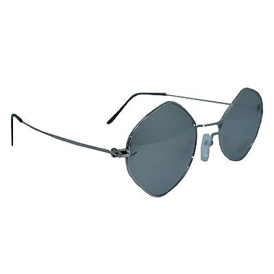 1stAmerican Julio Line John Lennon - Gafas de sol para mujer Bacchette Nero/Argento Lenti Nero L: Ropa y accesorios