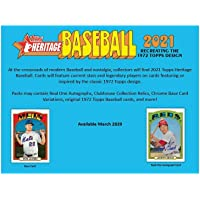 $97 » 2021 Topps Heritage Baseball Retail Display Box 24 Packs
