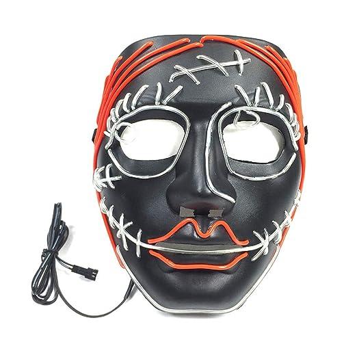chenpaif Disfraz de Halloween Divertido Máscara LED Alambre de ...