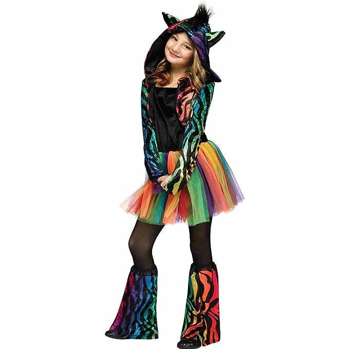 Amazon.com: Zebra de neón niño disfraz: Clothing