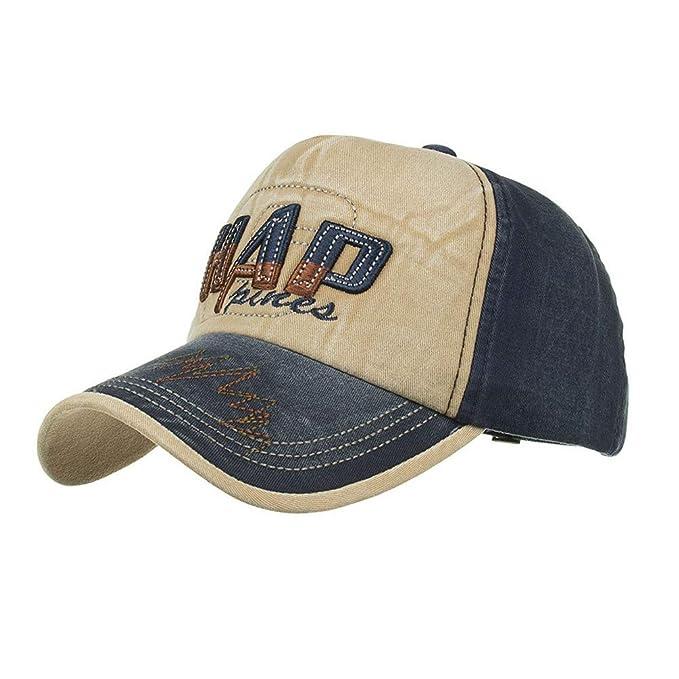 AdorabFitting-Cap Gorras Beisbol Baseball Cap Sombrero Boinas Hat Gorra Bordada de Letras Sombrero para el Sol. Azul M(56-58cm): Amazon.es: Ropa y ...