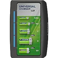 VARTA Universal Charger – led-laaddisplay – veiligheidsuitschakeling – exclusief VARTA design - Laadt 2 of 4 AA, AAA, C…