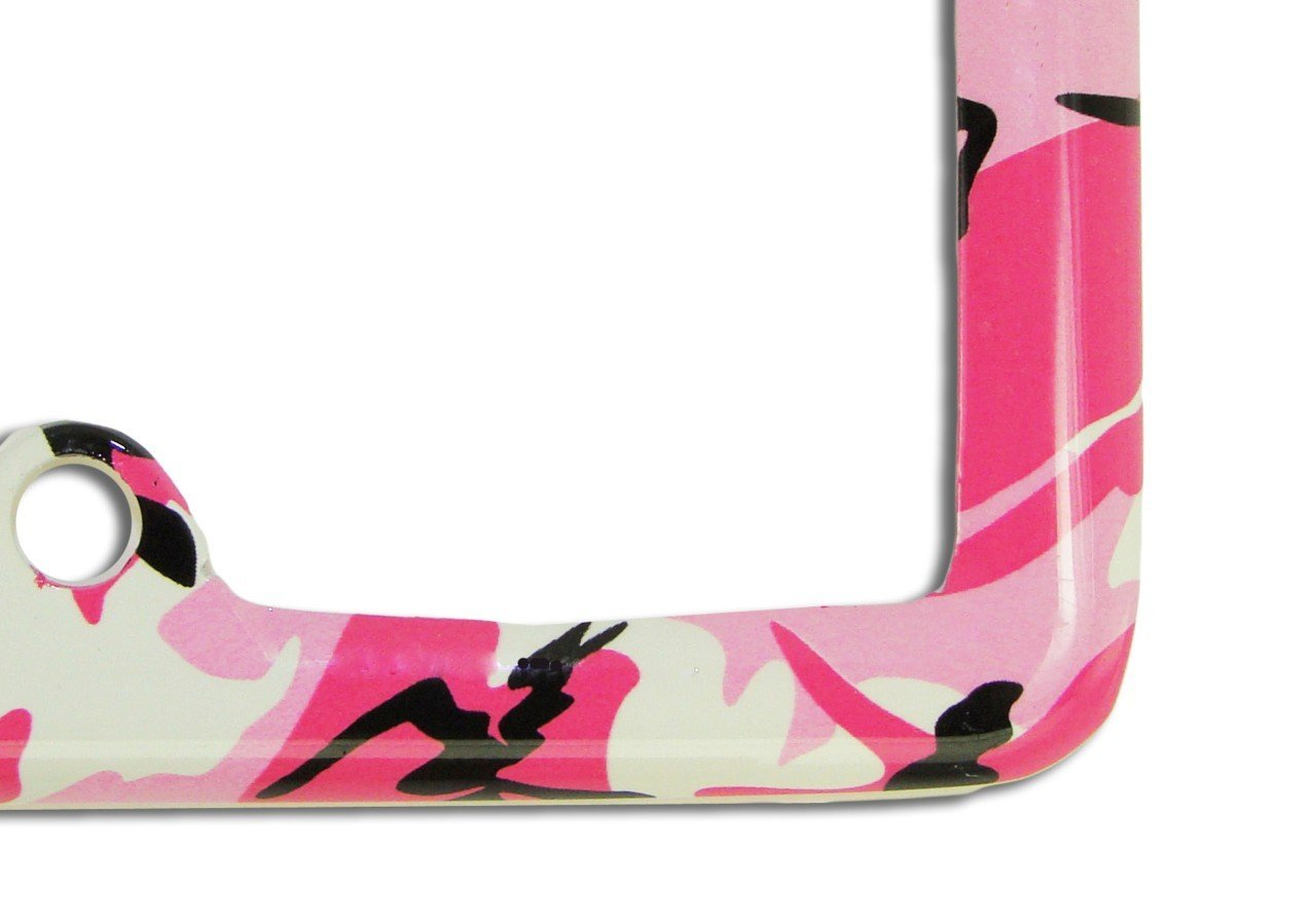 Old Fashioned Pink Camo License Plate Frame Pattern - Frame Photo ...