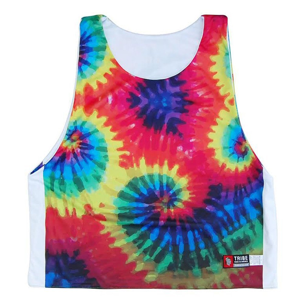 Tie Dye and White Sublimated Reversible Sublimated Lacrosse Pinnie XX-Large Tie Dy /& White