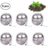 6 Pack Loose Leaf Tea Infuser, Stainless Steel Tea Filters Loose Leaf Tea Infuser Strainers Interval Diffuser with…
