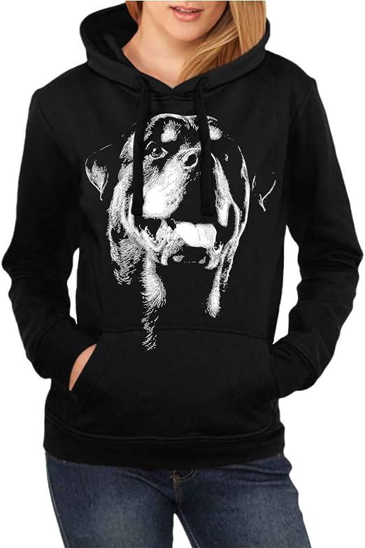 mujeres y mujer Sudadera con capucha de Rottweiler Boss ...