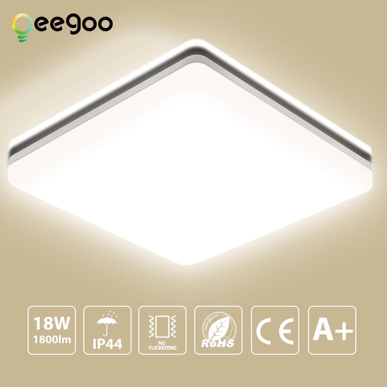 LED Deckenleuchte Bad, Oeegoo 8W 800LM LED Flimmerfreie