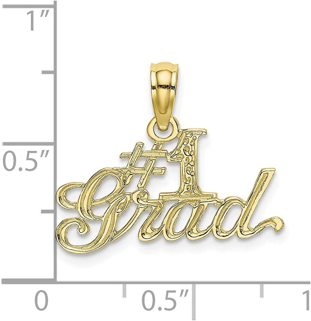 10k Gold Number 1 Grad Pendant Necklace Jewelry Gifts for Women