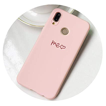 Amazon.com: Pink Matte Love Soft TPU Case for Huawei P30 P8 ...