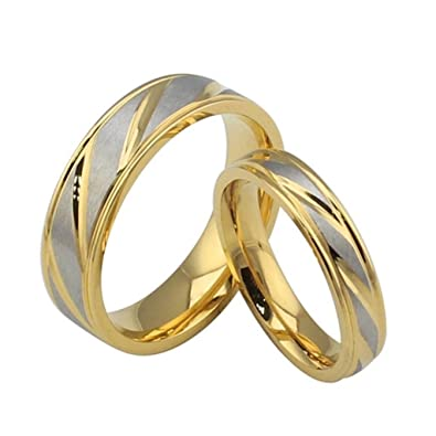 Umiso Unisex S Ring Stainless Steel Intertwined Two Colors