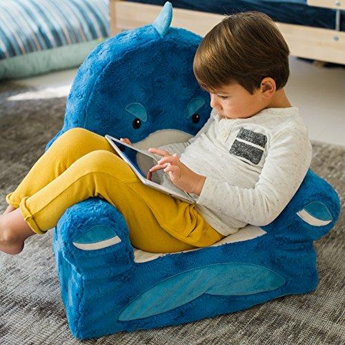 61uAq5kOCQL - Animal Adventure Sweet Seats | Blue Shark Children's Chair | Large Size | Machine Washable Cover