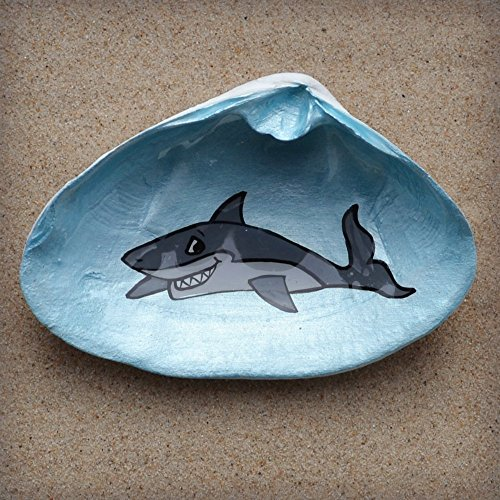 Shark-Clam-Shell-Dish-Spoon-Rest-Soap-Dish-Jewelry-Holder-Catch-all-Cranberry-Collective