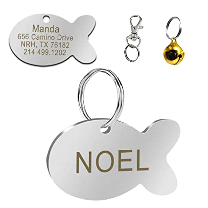7eaeaf337f43 Didog Stainless Steel Custom Pet ID Tags for Dogs and Cats,Multi-shapes,  Personalized Engrave