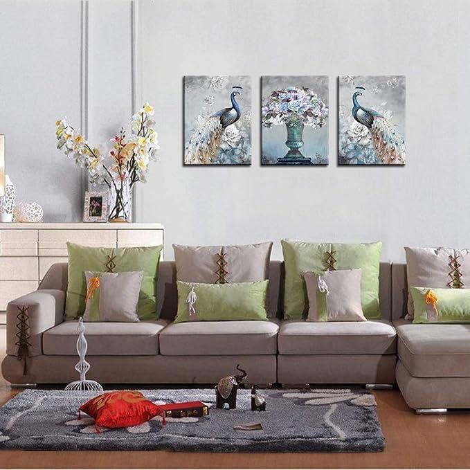 Amazon.com: WTD - Juego de 3 lienzos decorativos para pared ...