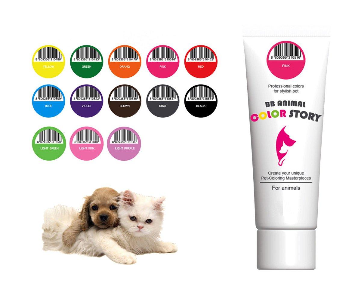 13 PCS Set 毛染め, 犬ヘアダイ, カラーリング Dog Hair Hair Bleach Dye Hair Coloring Professional Colors for Stylish Pet 50ml 並行輸入 B073RB817L