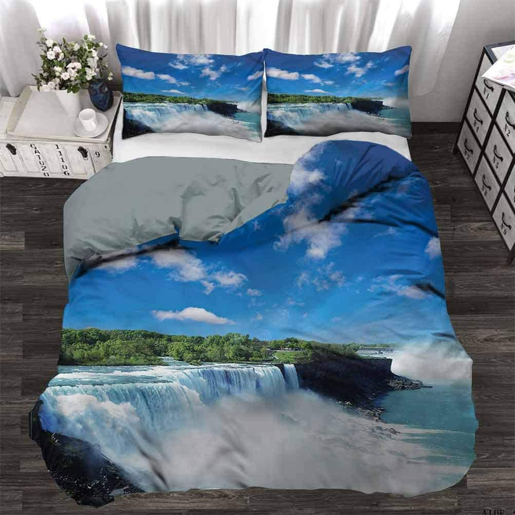 Amazon Com Bedding Cover Waterfall Niagara Falls In The Usa Modern Style Quilt Cover Very Soft Full 80 X 90 Inch Home Kitchen