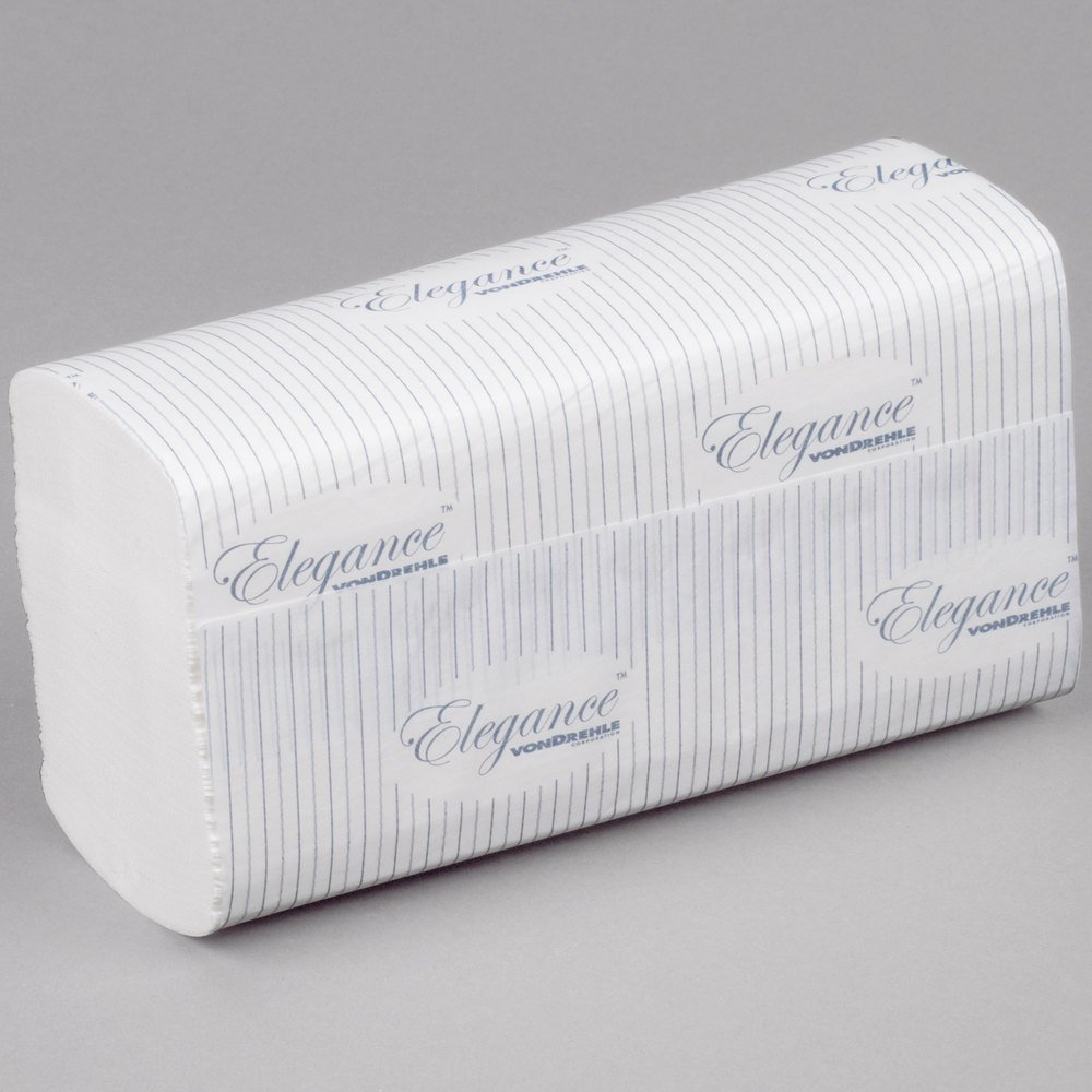 vonDrehle 548T Elegance 9.5'' x 9.25'' Premium TAD Multifold Paper Towel, White For use with 175AO Folded Towel Dispenser, 175 Towels per Pack, 16 Packs per Case, 2800 Towels per Case