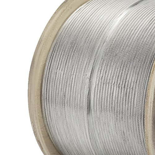 """LOVSHARE 1/8"""" 1000FT Wire Rope T316 Stainless Steel Cable Railing 1x19 Strand Core Cable Reel by LOVSHARE (Image #8)"""