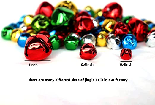 10 mm Small Bell Mini Bells Bulk with 27M Red Cords for Christmas 200PCS Jingle Bells Party /& Festival Decorations and Jewelry Making