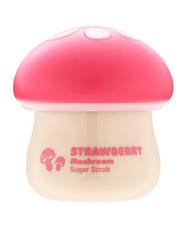 TONYMOLY Magic Food Strawberry Mushroom Sugar Scrub, 2.37 Fl Oz
