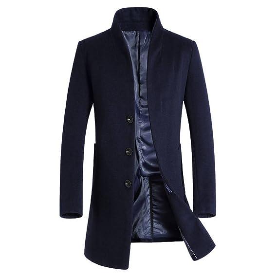 6da65fbc03c4 Men Winter Coat Long Jacket Mantel Herren Winterjacke Outwear Wintermantel  Mens Coat Jacket,D-