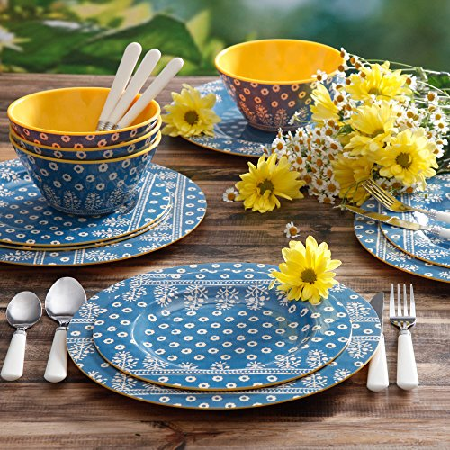 Blue And Yellow Kitchen Accessories
