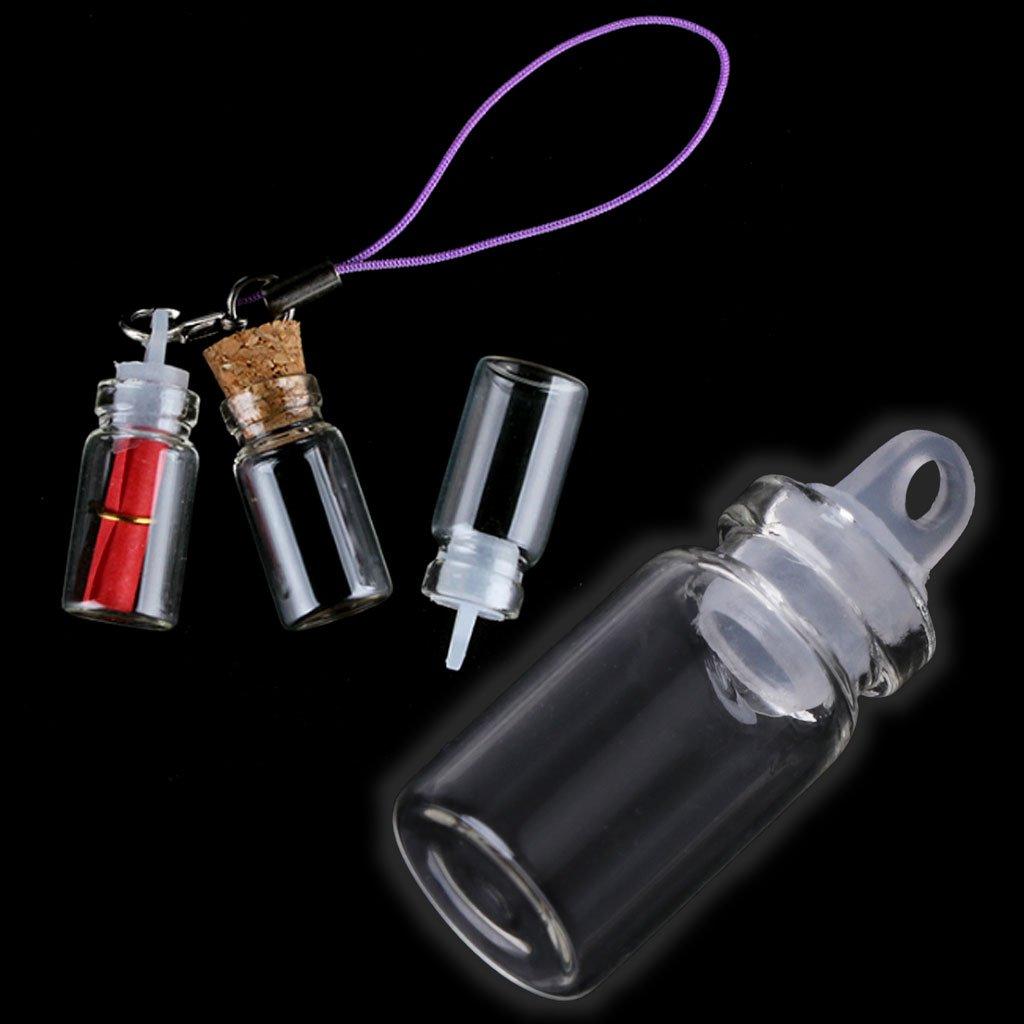 Qiman Glasflaschen von 10/St/ück 1/ml mit Verschluss aus Kunststoff wollen die Flasche Hochzeit Festzug Teil