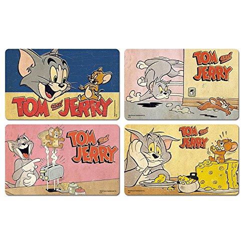 Ensemble de planches /à petit-d/éjeuner Tom et Jerry Ensemble de 4 planches /à d/écouper Tom /& Jerry LOGOSHIRT Design original sous licence