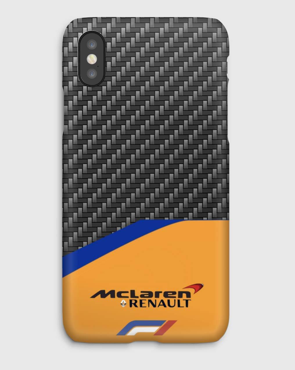 F1 carbon Mc Laren Funda para el iPhone XS, XS Max, XR, X, 8, 8+, 7, 7+, 6S, 6, 6S+, 6+, 5C, 5, 5S, 5SE, 4S, 4,