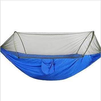 fhx22 Hamaca de Camping con mosquitera - 2 Personas Portátil de Alta Resistencia al Aire Libre Hamaca de Viaje, 3: Amazon.es: Deportes y aire libre