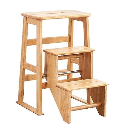 Sgabello Scaletta Design.Scaletta Pieghevole Per Uso Domestico In Legno Scala