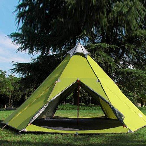 Zimo Campingzelt Großes Tunnelzelt Familienzelt windschutz Moskitonetz für 5-6 Personen
