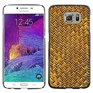 Be Good Phone Accessory // Dura Cáscara cubierta Protectora Caso Carcasa Funda de Protección para Samsung Galaxy S6 SM-G920 // Scales Gold Yellow Snake Bling Chevron