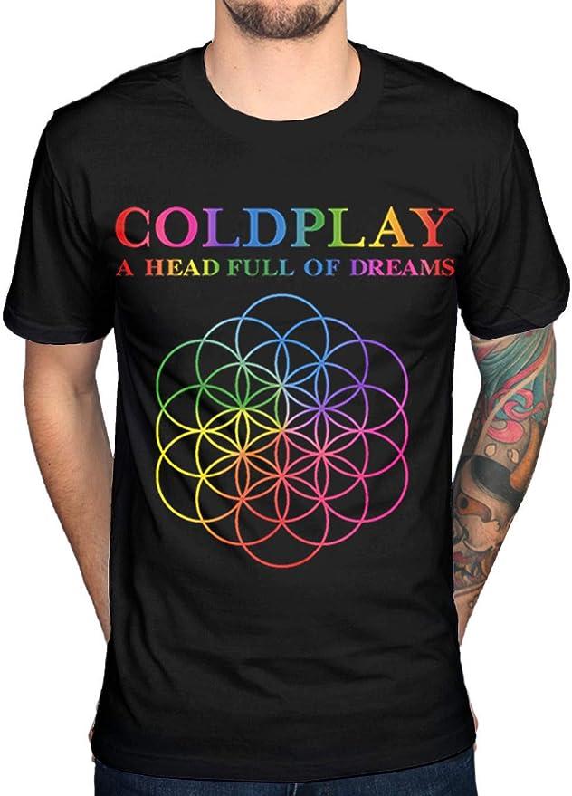Coldplay A Head Full of Dreams Mens Black Cotton Top T-Shirt tee: Amazon.es: Ropa y accesorios