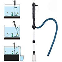 Songway Electric Aquarium Gravel Cleaner Battery Powered Fish Tank Sand Vacuum Cleaner Kit with Filter Bag Water Changer Sand Washer