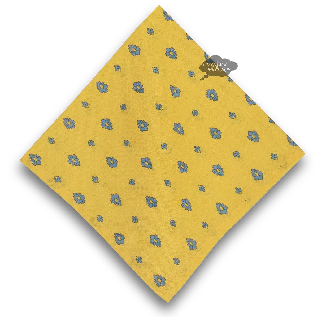 Grapes Yellow Provence Cotton Napkin by Le Cluny   B00NI14YYQ